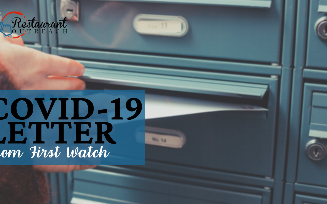 COVID-19 Letter from First Watch